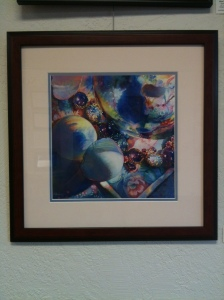 "Glass Effects 18""x 18"" Framed Original  Watercolor              $475 Double Dip Gallery"