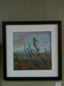 "Delta Ditch Walk 21""x 21"" Framed Original Pastel         $375 Double Dip Gallery"