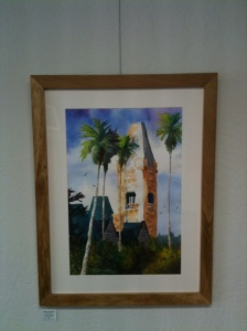 "Preston Serenity 30"" x 22"" Framed Original Watercolor             $375 Double Dip Gallery"