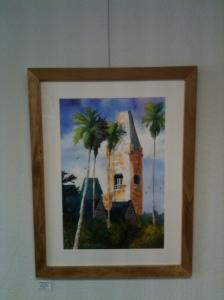 """Preston Serenity 30"""" x 22"""" Framed Original Watercolor             $375 Double Dip Gallery"""