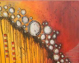 "Beyond The Moment Monette Keil 30"" x 24"" canvas original acrylic SOLD"