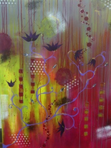 "Stolen Dream by Monette Keil 24""x 40"" Canvas Mix Media/Acrylic $425"